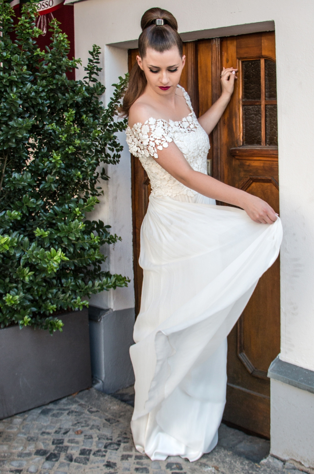 Kontrastreiches Brautstyling Jennifer Lopez inspired moderner Twist BineLovesLife