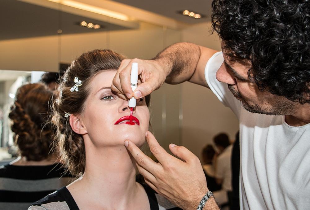 Kussechter Lippenstift Hochzeitsmakeup Beautiful classic Bridal makeup BineLovesLife