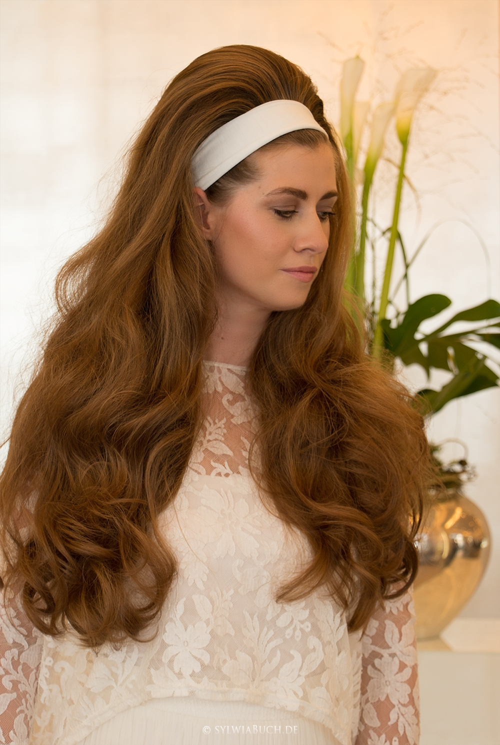 Volume Hair Weddinginspiration 70ies Wedding big hair bridalhair BineLovesLife