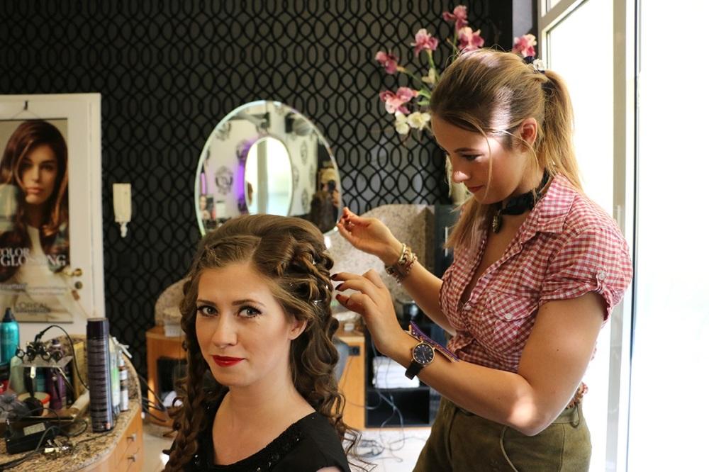 Bridal Hair Wedding Day BineLovesLife