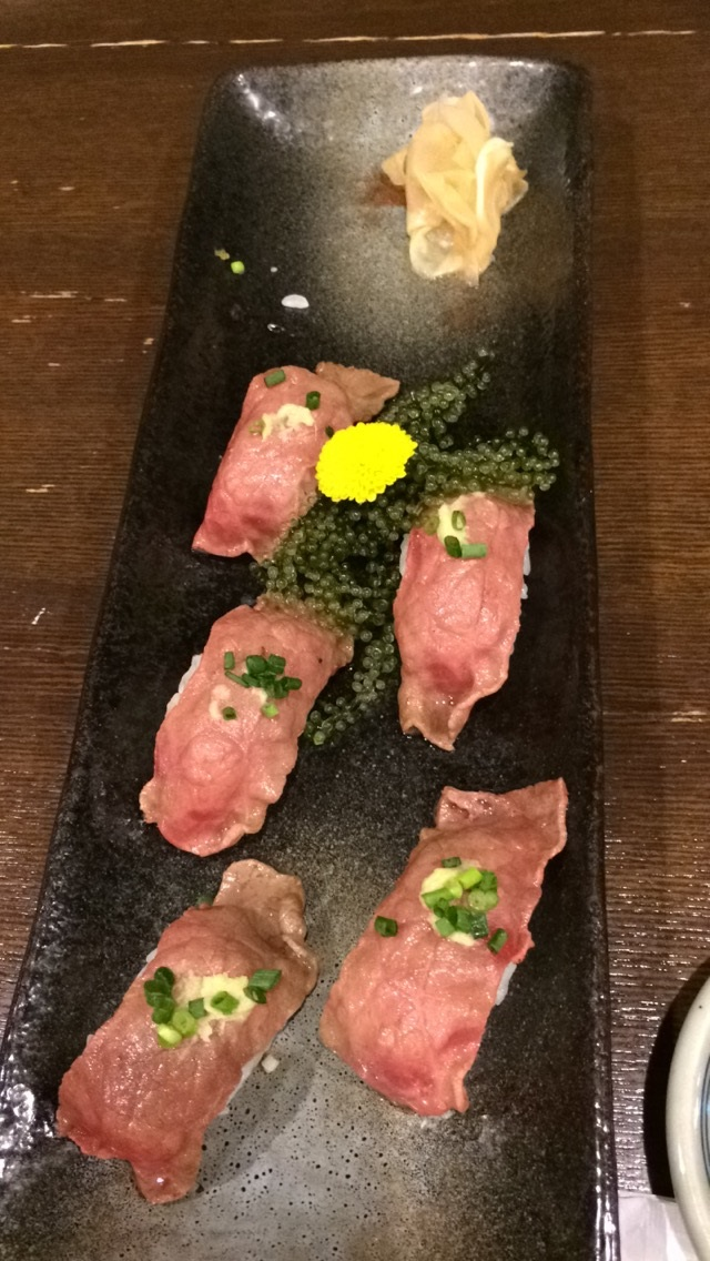 Miyakojima Beef Sushi Japan BineLovesLife