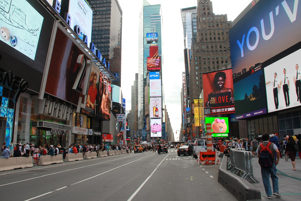 Times Square mit Baby BineLovesLife