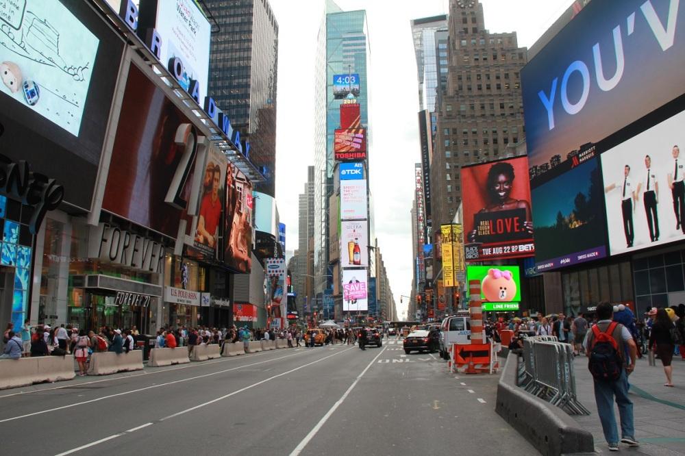 Times Square mit Baby BineLovesLife