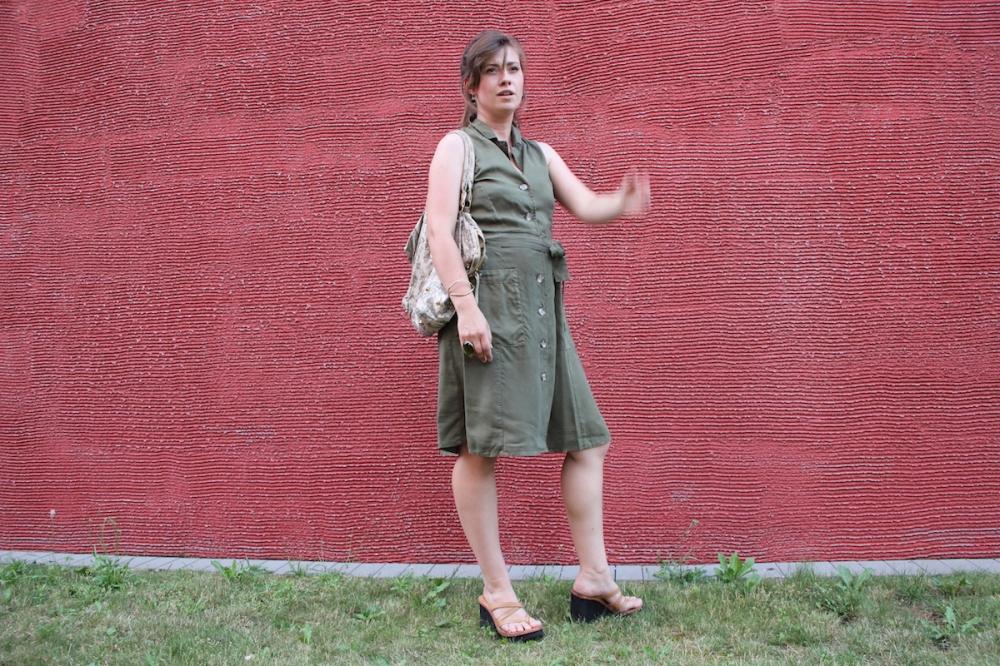 MamaStyleGuide Blusenkleid Khaki BineLovesLife
