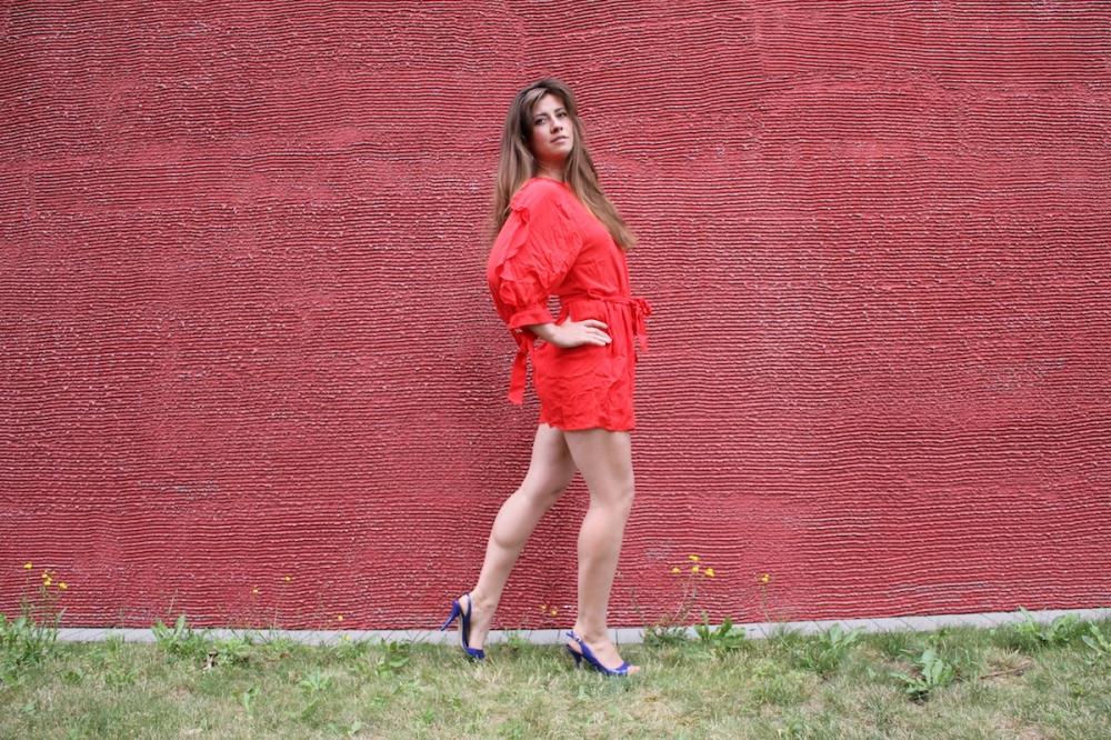 MSG Roter Jumpsuit TrendyThursday BineLovesLife