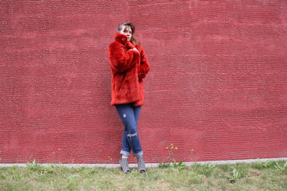 MSG Roter Wintermantel TrendyThursday BineLovesLife