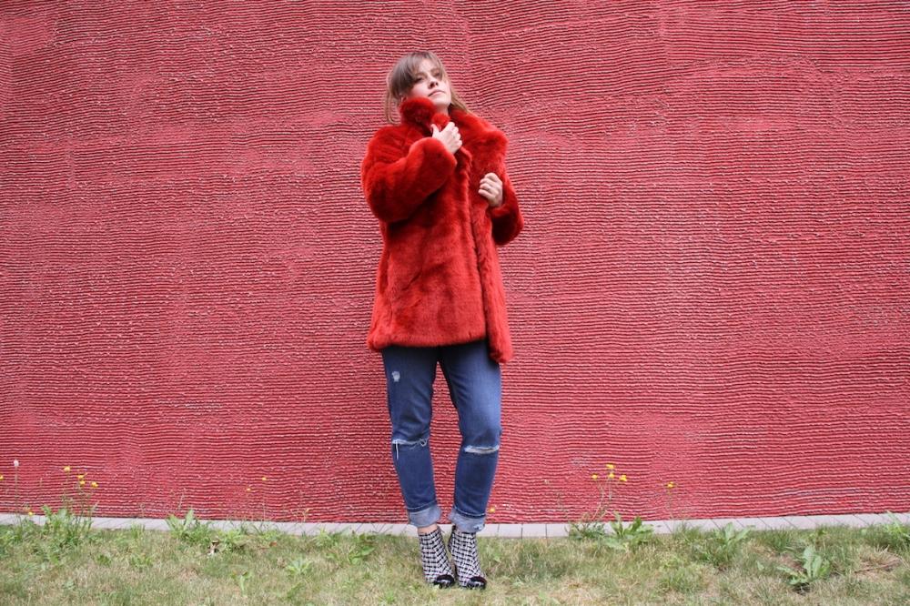 Roter Wintermantel TrendyThursday BineLovesLife