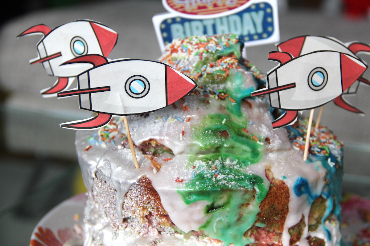Astronauten Geburtstag Kuchen FamilyFriday BineLovesLife