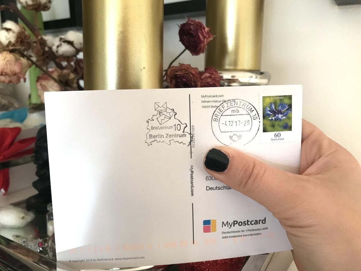 MyPostcard Postkarten App für Weihnachtskarten BineLovesLife