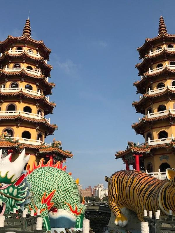 Ausblick aus der Drachenpagode Kaohsiung Taiwan TravelTuesday BineLovesLife