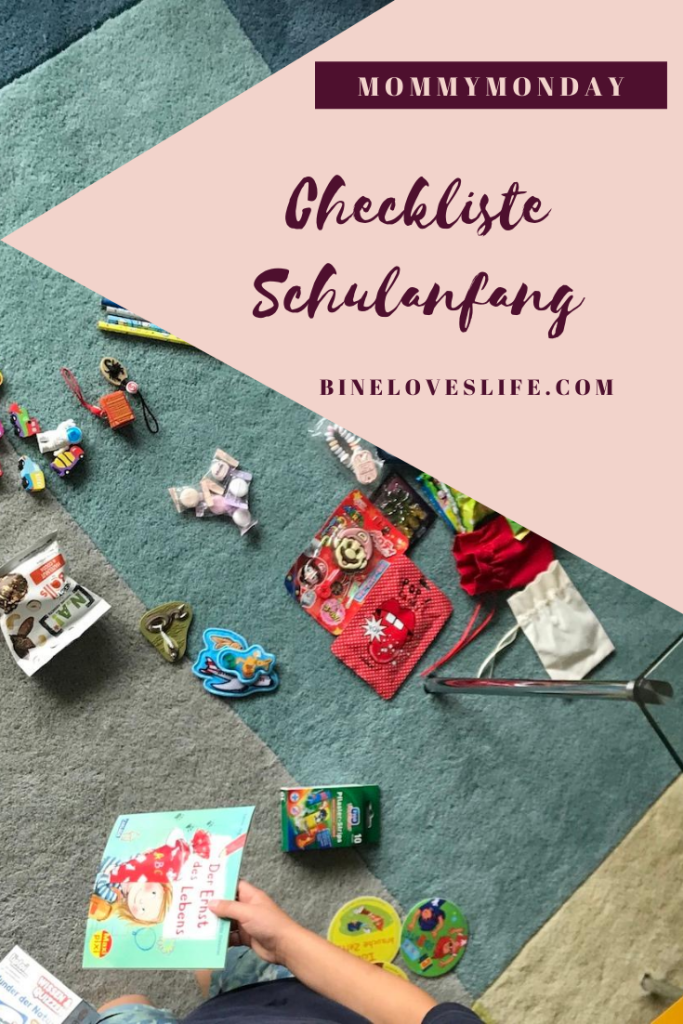 Checkliste Schulanfang Pinterest BineLovesLife